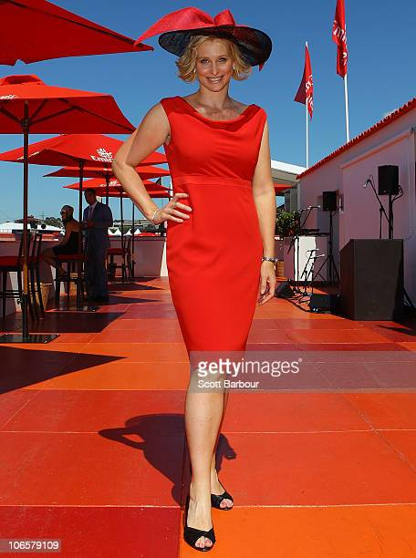 Joanna Griggs attends Emirates Stakes Day at Flemington Racecourse on November 6 2010 in Melbourne Australia