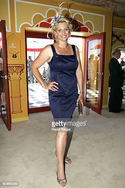 Joanna Griggs attends the Emirates marquee at Emirates Stake Day at Flemington Racecourse on November 7 2009 in Melbourne Australia