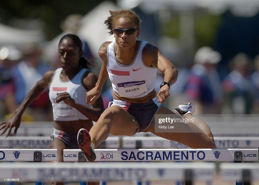 Joanna Hayes placed second in the women's 100-meter hurdles in 12.55 seconds in the U.S. Olympic Track & Field Trials at Sacramento State's Hornet Stadium on Sunday, July 18, 2004.