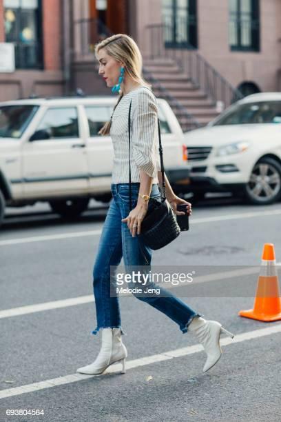 Joanna Hillman of Harper's Bazaar outside the Stella McCartney Spring 18 presentation on June 8 2017 in New York City