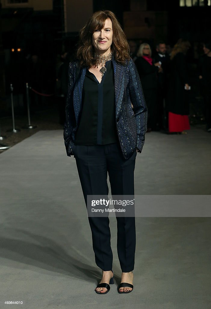 Joanna Hogg attends the VIP Premiere of 'A Bigger Splash' hosted by AnOther magazine and Dior at The Curzon Mayfair on October 21, 2015 in London, England.