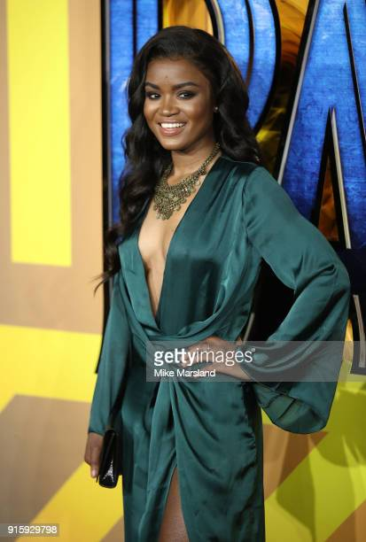 Joanna Jarjue attends the European Premiere of 'Black Panther' at Eventim Apollo on February 8 2018 in London England