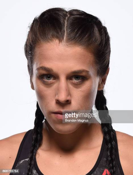 Joanna Jedrzejczyk of Poland poses for a portrait on October 6 2017 in Las Vegas Nevada