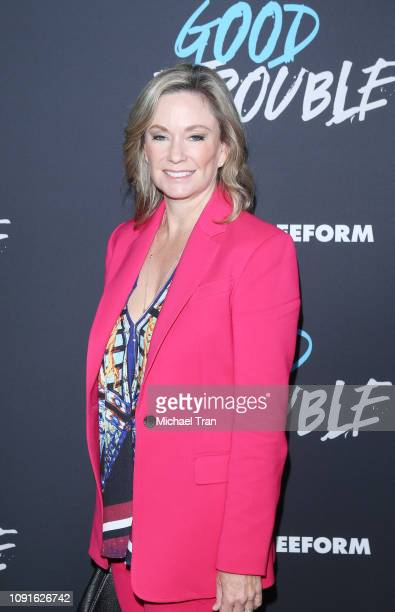 "Joanna Johnson attends the Los Angeles premiere of Freeform's ""Good Trouble"" held at Palace Theatre on January 08, 2019 in Los Angeles, California."