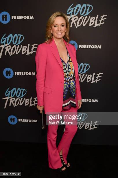 Joanna Johnson attends the premiere of Freeform's Good Trouble at Palace Theatre on January 08 2019 in Los Angeles California