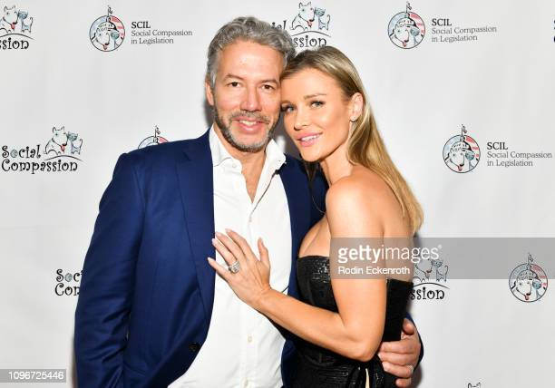 Joanna Krupa and husband Douglas Nunes attend the Social Compassion in Legislation Hosts Sunset On Sunset Event Honoring AnimalRights Pioneers at...