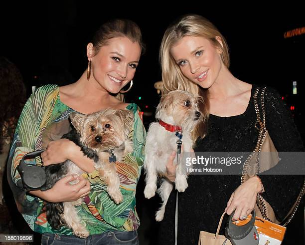 Joanna Krupa and Marta Krupa attend the Lucky Puppy Rescue and Retail grand opening on December 8 2012 at Lucky Puppy Rescue in Studio City California