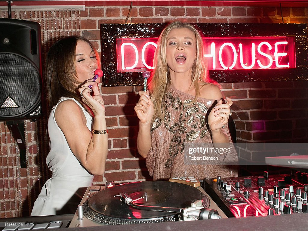 Joanna Krupa (R) and Robin Antin party at Pussycat Dolls Dollhouse on February 16, 2013 in San Diego, California.