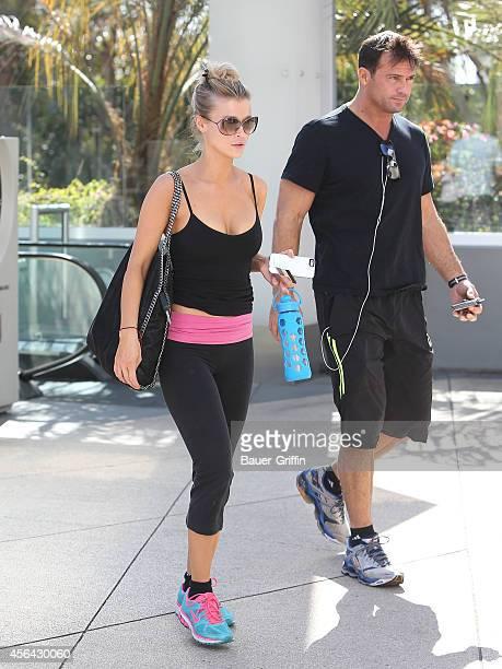 Joanna Krupa and Romain Zago are seen on September 30 2014 in Los Angeles California