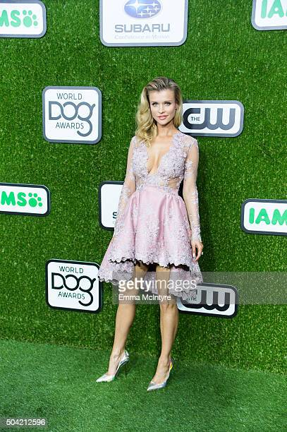 Joanna Krupa arrives at the 2016 World Dog Awards at Barker Hangar on January 9 2016 in Santa Monica California
