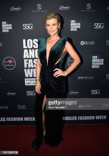 Joanna Krupa backstage at Los Angeles Fashion Week Powered by Art Hearts Fashion LAFW SS/19 at The Majestic Downtown on October 11 2018 in Los...