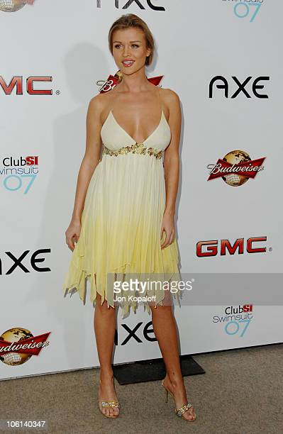 Joanna Krupa during 2007 Sports Illustrated Swimsuit Issue Party at Pacific Design Center in Los Angeles California United States
