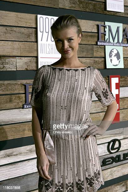 Joanna Krupa during E and EMA's 2007 Golden Globe After Party Red Carpet and Inside at Beverly Hilton in Beverly Hills California United States
