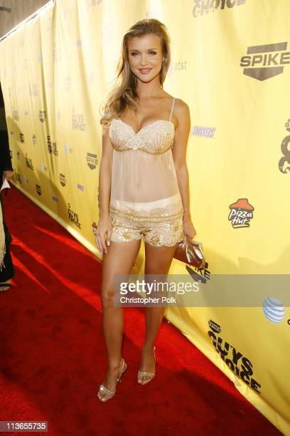 Joanna Krupa during First Annual Spike TV's Guys Choice Red Carpet at Radford Studios in Los Angeles California United States