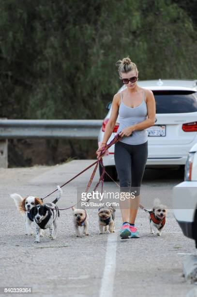 Joanna Krupa is seen leaving the dog park on August 28 2017 in Los Angeles California