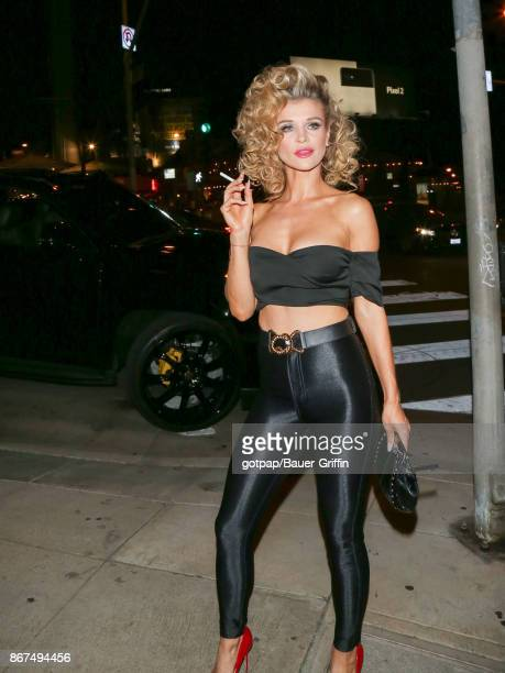 Joanna Krupa is seen outside the Tequila Casamigos annual Halloween Bash at Tower Records on October 27 2017 in Los Angeles California