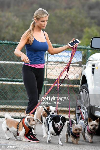 Joanna Krupa is seen visiting the dog park on August 30 2017 in Los Angeles California