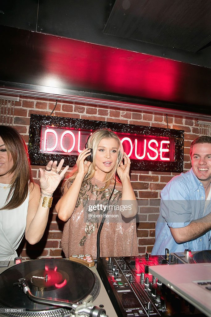 Joanna Krupa parties at Pussycat Dolls Dollhouse on February 16, 2013 in San Diego, California.