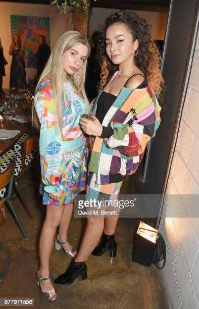 Joanna Kuchta and Ella Eyre attend an intimate dinner hosted by Henry Holland and Andrew Nugent to celebrate the House of Holland Resort 18...