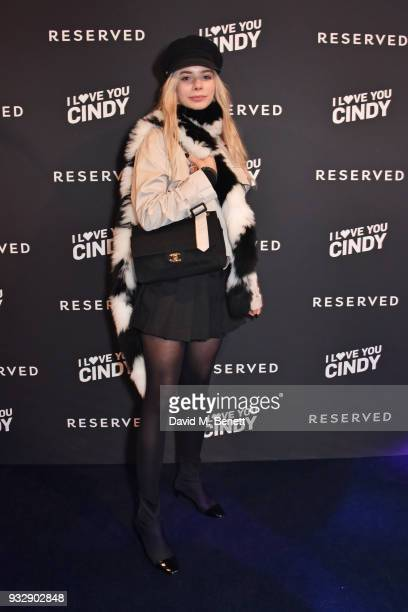 Joanna Kuchta attends the Reserved iLoveYouCindy campaign launch event at Kachette on March 16 2018 in London England