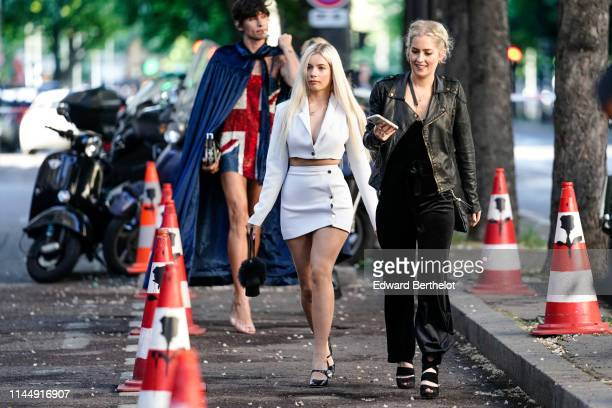 Joanna Kuchta attends the Scandal A Paris JeanPaul Gaultier's New Fragance Launch Dinner Party At Lassere on April 24 2019 in Paris France