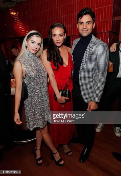 Joanna Kuchta, Hannah John-Kamen and Sean Teale attend the Vanity Fair EE Rising Star Award Party ahead of the 2020 EE BAFTAs at The Standard London...