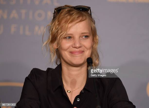 "Joanna Kulig attends attends the press conference for ""Cold War "" during the 71st annual Cannes Film Festival at Palais des Festivals on May 11, 2018..."