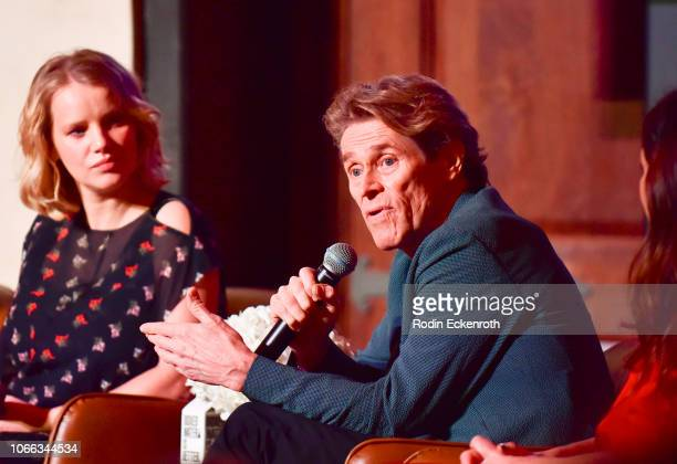 Joanna Kulig, Willem Dafoe, and Kathryn Hahn speak onstage at AFI FEST 2018 Presented by Audi - Indie Contenders at The Hollywood Roosevelt Hotel on...