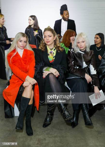 Joanna Kutchta attends the Marques'Almeida show during London Fashion Week February 2020 at The Old Truman Brewery on February 15 2020 in London...