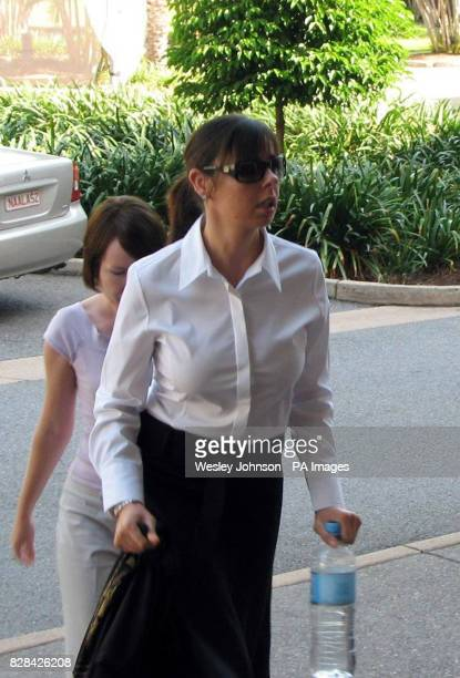 Joanna Lees girlfriend of murdered man Peter Falconio arrives at the Northern Territory Supreme Court in Darwin in Australia Tuesday November 2 2005...
