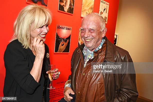 Joanna Lumley and David Bailey attend a private view of 'Terence Donovan Speed Of Light' at The Photographers' Gallery on July 14 2016 in London...