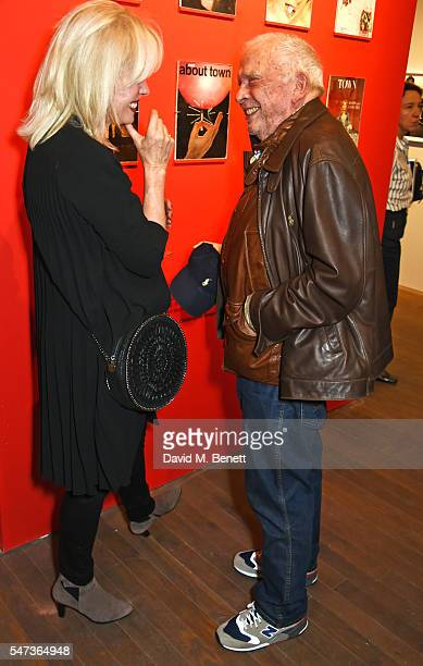 Joanna Lumley and David Bailey attend a private view of 'Terence Donovan: Speed Of Light' at The Photographers' Gallery on July 14, 2016 in London,...