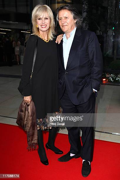Joanna Lumley and husband Stephen Barlow attend the opening of McLaren London Showroom at One Hyde Park on June 21, 2011 in London, England.