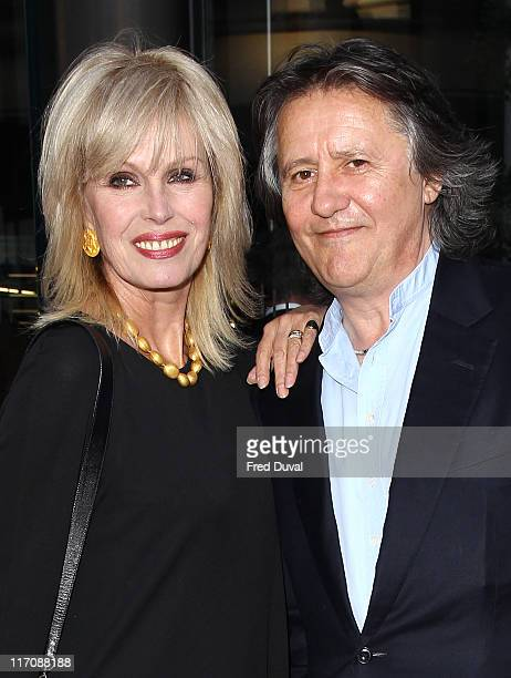 Joanna Lumley and husband Stephen Barlow attend the opening of McLaren London Showroom at One Hyde Park on June 21 2011 in London England