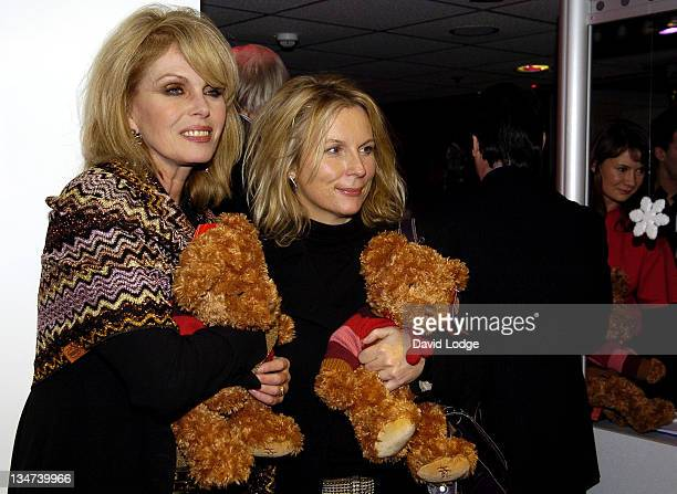 Joanna Lumley and Jennifer Saunders during Forgotten Children Charity Event November 30 2005 at Hamleys in London Great Britain