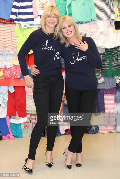 Joanna Lumley and Zoe Ball attend a photocall to launch the MS 'Love Mum' shwopping campaign in conjunction with Oxfam at Marks Spencer Marble Arch...