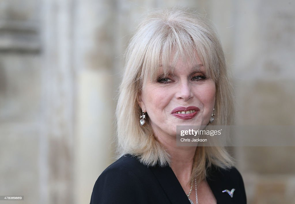 Joanna Lumley attends a memorial service for Sir David Frost at Westminster Abbey on March 13, 2014 in London, England.
