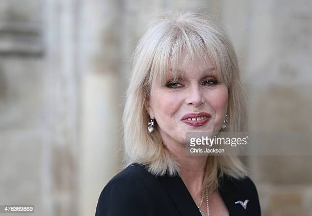 Joanna Lumley attends a memorial service for Sir David Frost at Westminster Abbey on March 13 2014 in London England