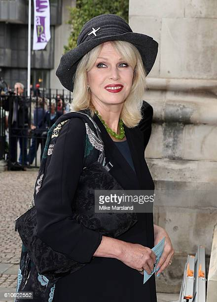 Joanna Lumley attends a memorial service for the late Sir Terry Wogan at Westminster Abbey on September 27 2016 in London England