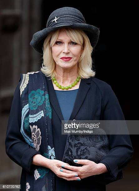 Joanna Lumley attends a memorial service for the late Sir Terry Wogan at Westminster Abbey on September 27 2016 in London England Radio and...