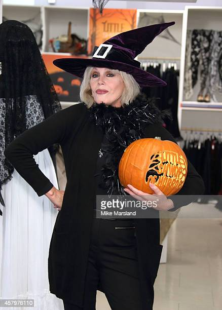 Joanna Lumley attends a photocall to open Marks and Spencer Little Shwop of Horrors at Marks Spencer Marble Arch on October 28 2014 in London England