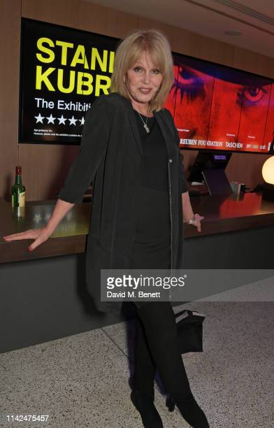 Joanna Lumley attends a private view of Stanley Kubrick The Exhibition at The Design Museum on May 9 2019 in London England