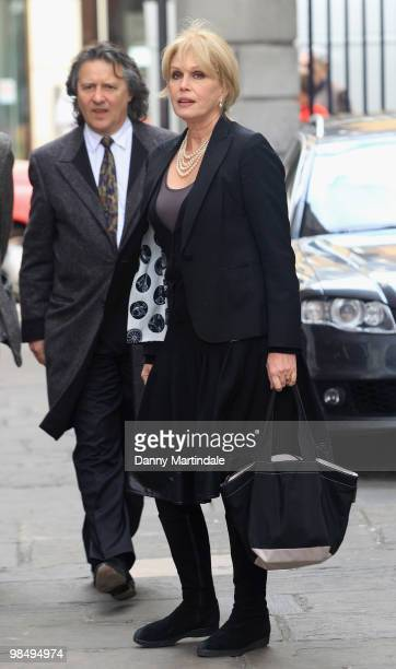 Joanna Lumley attends the funeral of Christopher Cazenove held at St Paul's Church in Covent Garden on April 16 2010 in London England