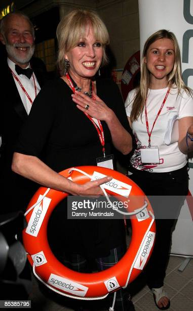 Joanna Lumley attends the House of Lords v House of Commons Speedo Charity Swim at Porchester Hall on March 11 2009 in London England