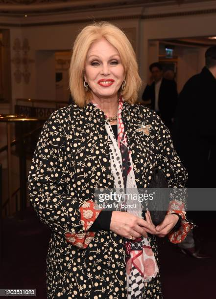 Joanna Lumley attends the press night performance of Madam Butterfly part of the English National Opera's 2019/20 season at The London Coliseum on...