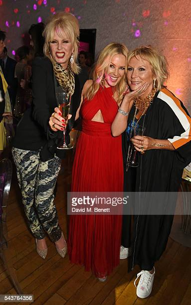 """Joanna Lumley, Kylie Minogue and Jennifer Saunders attend the World Premiere after party of """"Absolutely Fabulous: The Movie"""" at Liberty on June 29,..."""