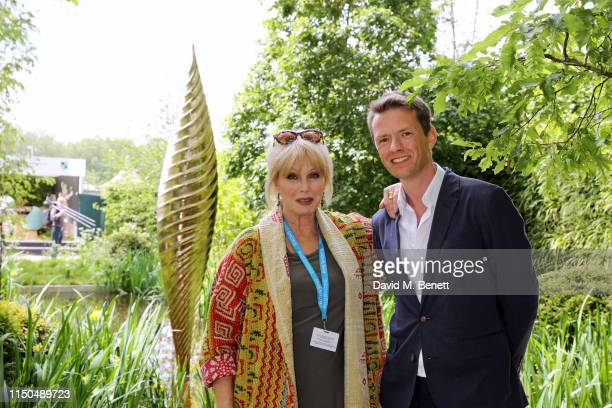 Joanna Lumley OBE and garden designer Andrew Duff attend 'The Savills and David Harber Garden' which celebrates the environmental benefit and beauty...