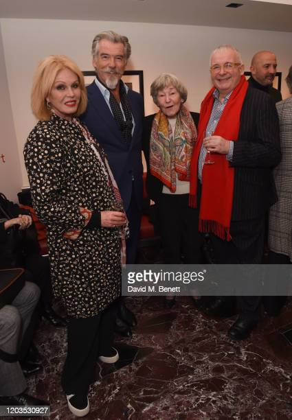 Joanna Lumley Pierce Brosnan May Carmichael and Christopher Biggins attend the press night performance of Madam Butterfly part of the English...