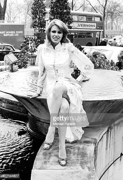 Joanna Lumley portrait photocall for the New Avengers London 1976