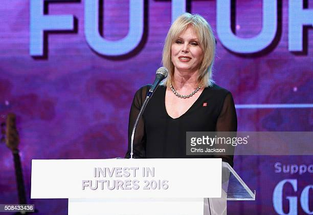 Joanna Lumley presents the Prince's Trust Invest in Futures Gala Dinner at The Old Billingsgate on February 4 2016 in London England The dinner saw...
